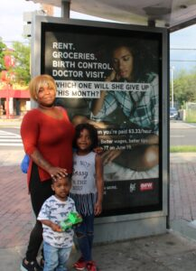 Fight for 15 Bus Shelter Ad